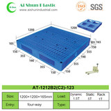 No.123 Mesh Top Cross Deck Plastic Pallet