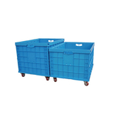 AS-806053-C1 Solid foldable plastic crate