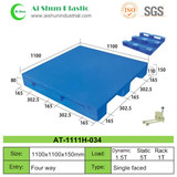 No.34 Flat Three Skids Plastic Pallet