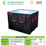 1000L foldable plastic pallet box