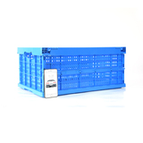 AS-604028-C2 Ventilated foldable plastic crate