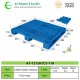 No.119 Mesh Top Three Skids Plastic Pallet