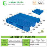 No.117 Perforated Three Skids Plastic Pallet