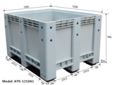 ATK-1210A1 Solid plastic pallet box