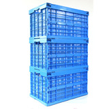 AS-604034-C2 Ventilated foldable plastic crate